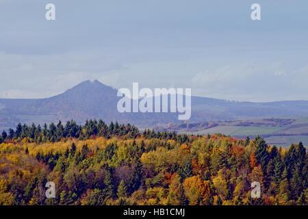 View from Hohentwiel zum Hohenhewen - Stock Photo