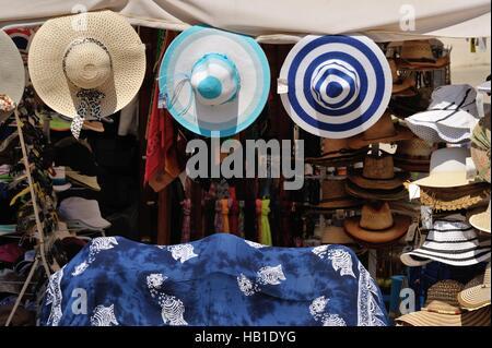 hat shop in Veli Losinj - Stock Photo