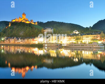 Cochem,Mosel Valley,Mosel River,Germany - Stock Photo