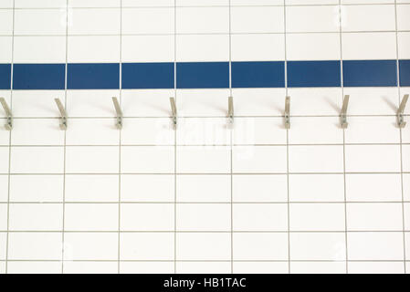 Coat Hook in an Old Thermal Sole Bath - Stock Photo