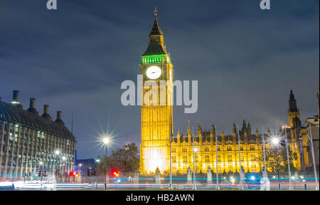 The Big Ben is a British cultural icon, the tower is one of the most prominent symbols of the United Kingdom. - Stock Photo