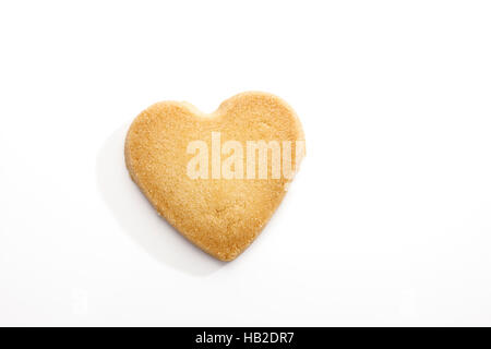 Butter cookie, heart - Stock Photo
