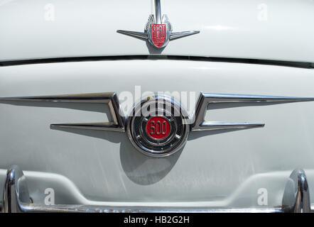 Seat 600 classic car design details - Stock Photo