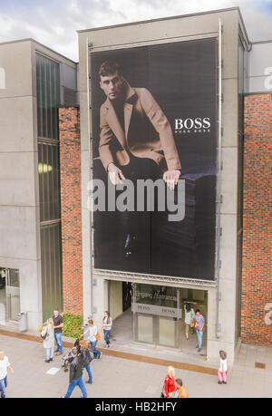 hugo boss, factory outlet - Stock Photo