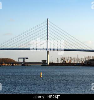 Rugia Bridge. Stralsund - Stock Photo