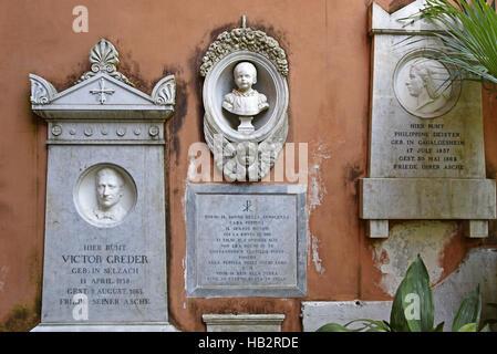 Campo Santo Teutonico, cemetery, Rome - Stock Photo