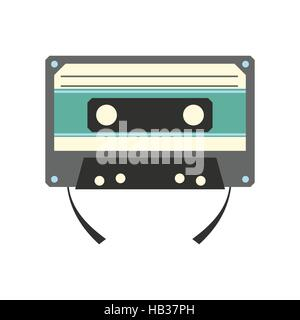 Audio compact cassette flat icon - Stock Photo