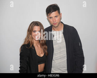 Vanessa May and friend Andreas Ferber - Stock Photo