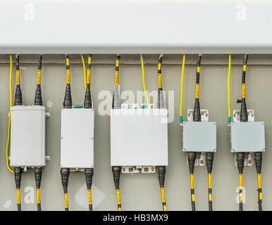 Main circuit box breaker in factory. - Stock Photo
