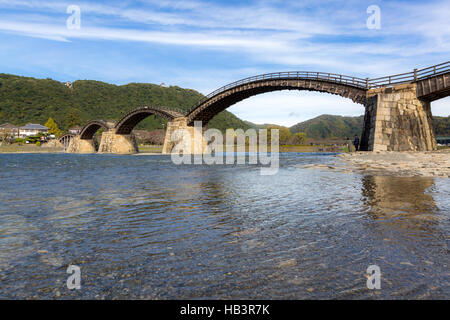Kintai Bridge Iwakuni Hiroshima - Stock Photo