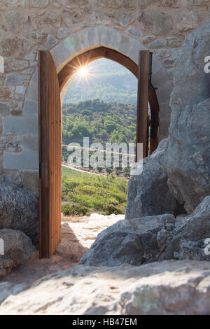Looking through a gate - Stock Photo