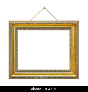 Retro frame on rope - Stock Photo