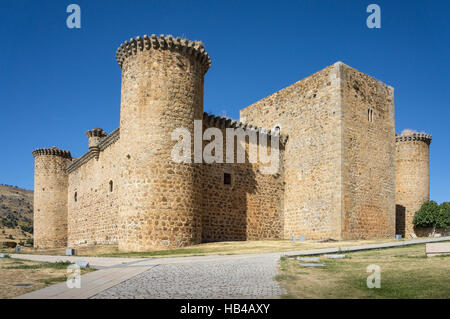 Valdecorneja castle at El Barco De Avila, Avila Province, Spain. - Stock Photo