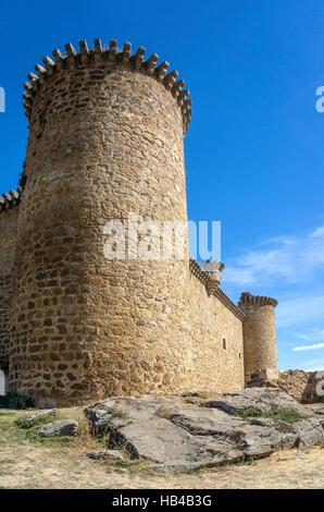 Valdecorneja castle at El Barco De Avila, Avila Province, Spain. - Stock Photo