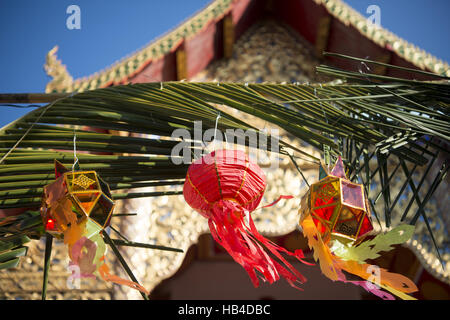 ASIA THAILAND CHIANG LOY KRATHONG FESTIVAL - Stock Photo