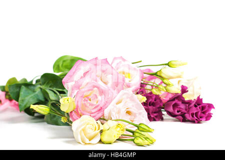 Eustoma flowers on light background - Stock Photo