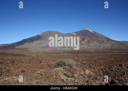 Tenerife, volcano Teide with lava field - Stock Photo