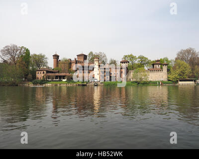 Medieval Castle in Turin - Stock Photo