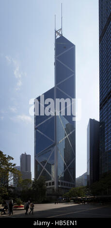 The Bank of China in the City Centre of Hong Kong in the south of China in Asia - Stock Photo