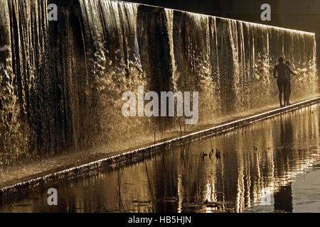 Summer-Evening at the Waterfall - Stock Photo