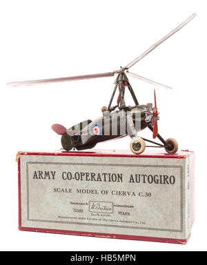 1950s Britain's Toys Army Co-operation Autogiro children's diecast metal toy - Stock Photo