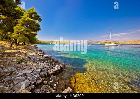 Telascica bay on Dugi Otok island - Stock Photo