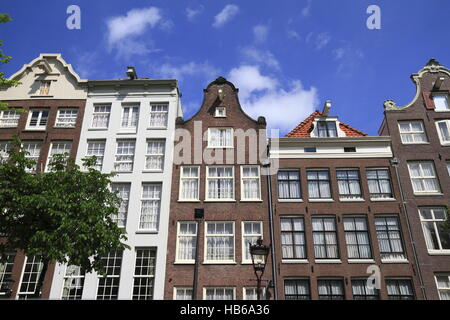 Houses in Amsterdam, Holland - Stock Photo
