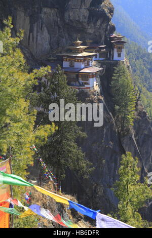 Tiger's Nest, Taktsang Monastery, Bhutan - Stock Photo