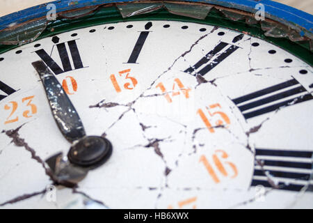 Close Up Of Broken Clock Stock Photo 58925485 Alamy