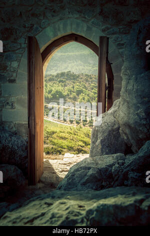 Looking through a gate - Landscape - Stock Photo
