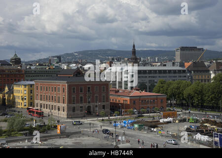 Opera House in Oslo with View to the City - Stock Photo