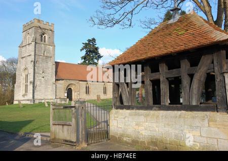 St Nicholas Church, Beaudesert, Henley-in-Arden - Stock Photo
