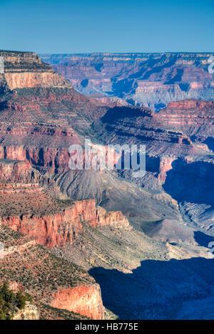 South Rim, Grand Canyon National Park, UNESCO World Heritage Site, Arizona, USA - Stock Photo