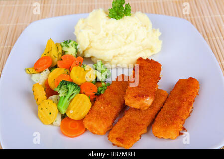 fish fingers - Stock Photo