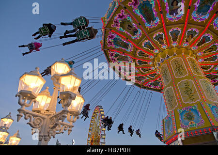 swing ride, Dom, Hamburg, Germany - Stock Photo