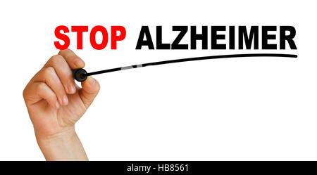 STOP ALZHEIMER - Stock Photo