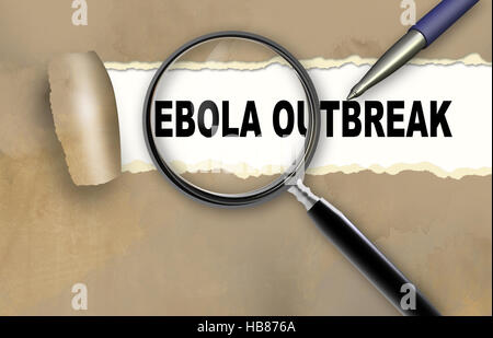 ebola outbreak - Stock Photo