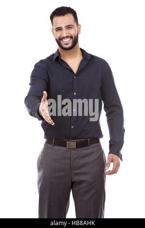 businessman offering handshake - Stock Photo