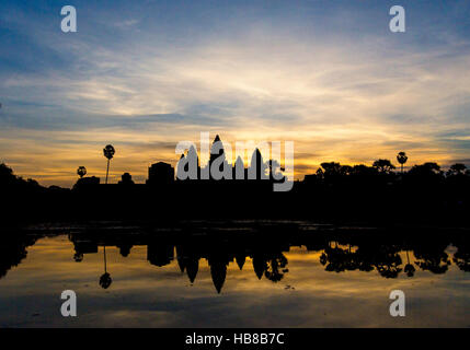 angkor wat cambodia reap siem at sunrise - Stock Photo