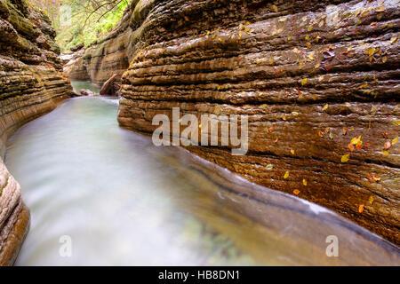 Gorge, stream, Taugl, Tauglbach, Tauglbachklamm, Hallein District, Salzburg, Austria