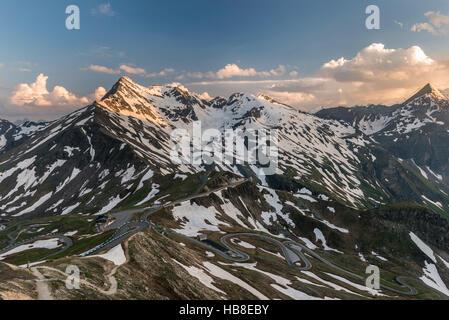 View from Edelweissspitze, Edelweißspitze on The Grossglockner High Alpine Road, Brennkogel, High Tauern National - Stock Photo