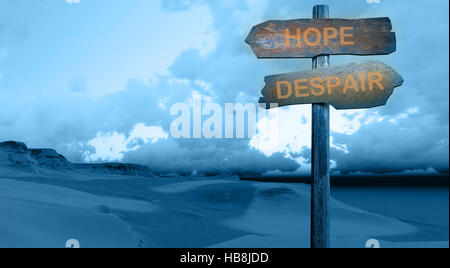 HOPE - DESPAIR - Stock Photo
