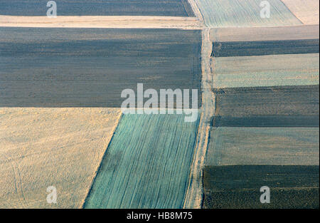 monoculture, farmland, Swabian Alb, Germany - Stock Photo