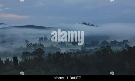 Early morning in rural Australia - Stock Photo