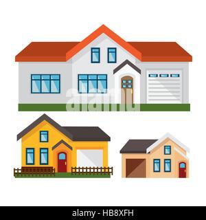 house exterior set icons vector illustration design - Stock Photo