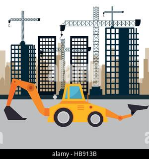 under construction machinery icon vector illustration design - Stock Photo