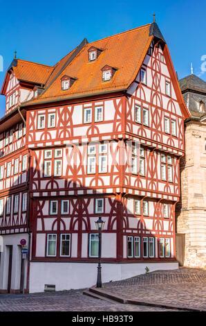 Half-timbered house in Aschaffenburg - Stock Photo