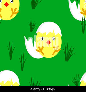 seamless easter pattern - Stock Photo