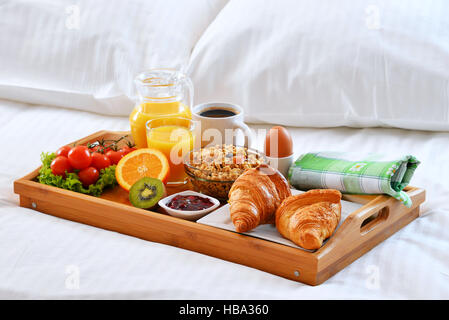 A Hotel Double Room With Breakfast Tray France Chambre D 39 H Tel Stock Photo Royalty Free