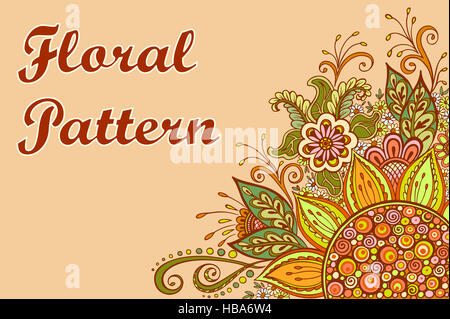 Colorful Floral Pattern - Stock Photo